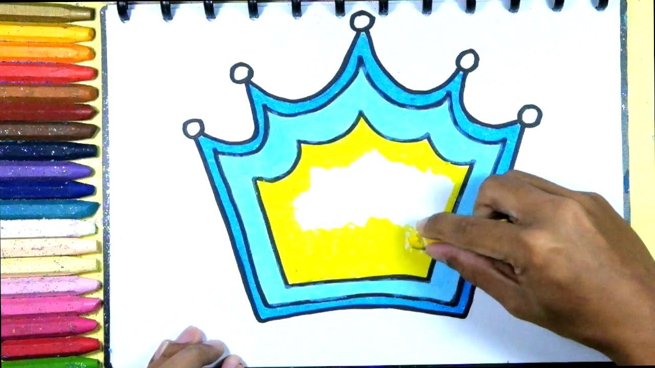 Menggambar Dan Mewarnai Mahkota Princess Raja Belajar Mengenal