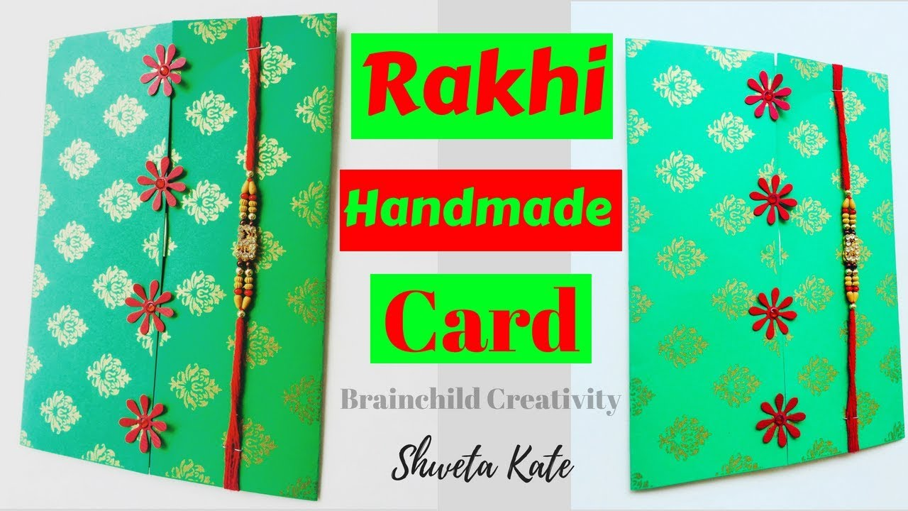 How To Make Handmade Greeting Cards For Rakhi Raksha Bandhan Card