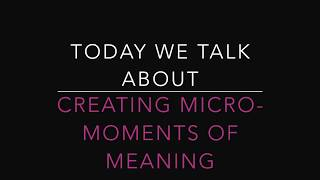 Vlog: Micro-Moments  of Meaning & Pre-order The Crucible's Gift