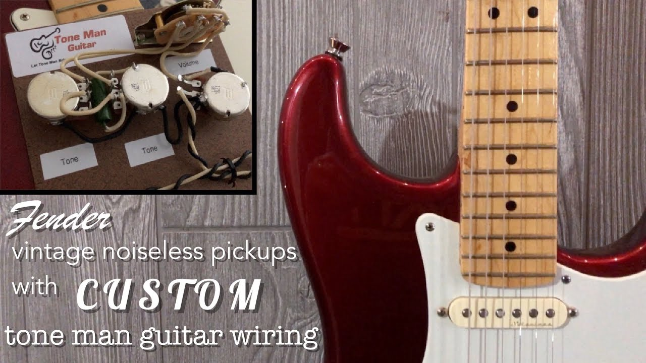 hight resolution of fender vintage noiseless pickups with custom wiring 500k pots