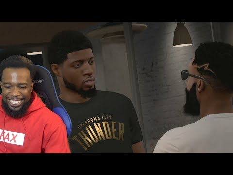 PAUL GEORGE TRYING TO CONVINCE ME TO SIGN WITH NIKE! NBA 2k18 MyCareer