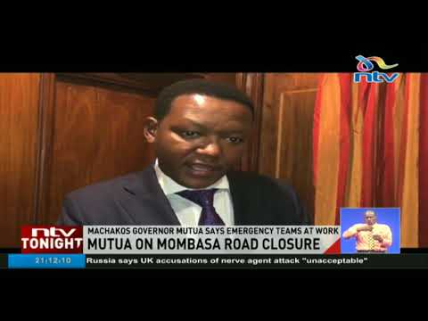 Machakos governor Alfred Mutua asks motorists to avoid Mombasa road