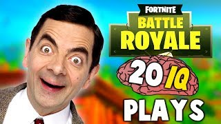 FORTNITE - WHEN PLAYERS HAVE 20 IQ (Dumbest Plays Ever)