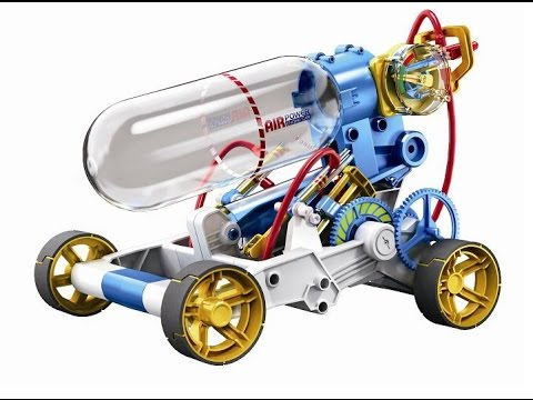 Cic robotic kit air powered engine car video cic21 631 for Motor kits for kids