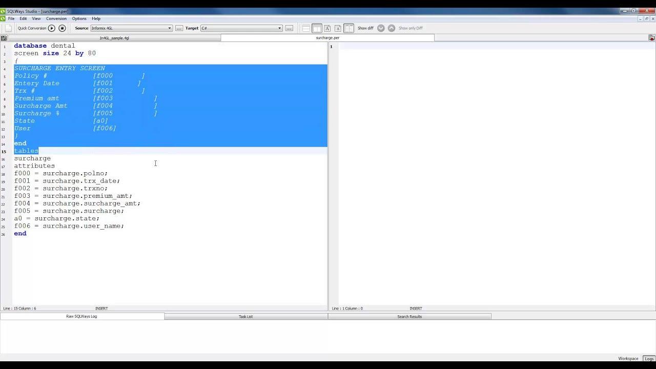Informix 4GL to C# NET Migration Demo