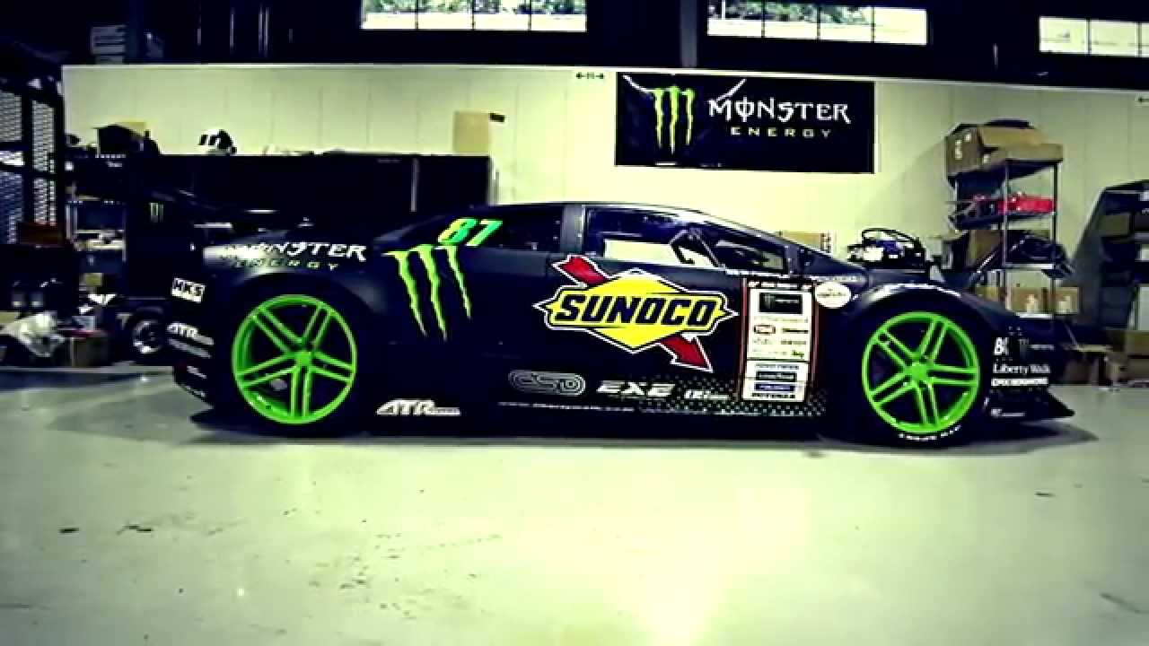 Monster Energy World S First Lamborghini Drift Car Youtube