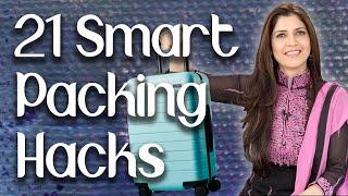 21 Smart Packing Hacks  Travel Hacks  Travel Tips- Ghazal Siddique