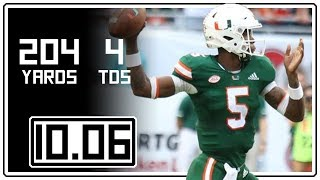 N'Kosi Perry Full Highlights Miami vs Florida State || 10.06.18 || 204 Yards, 4 TDs