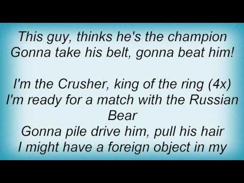 Ramones - The Crusher Lyrics