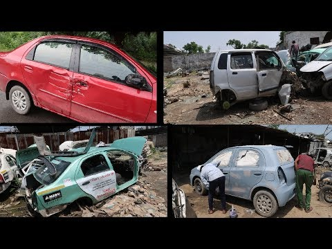 My Friend's Car Accident | Toyota Etios Accident | Second Hand Doors For Etios | Car Dent Paint