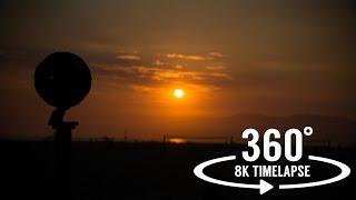 8k 360 timelapse video - Sunset at Venice Beach, California    Insta360 Pro