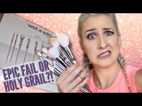 Wet N Wild Holiday Brush Set CRUELTY FREE DRUGSTORE Brush Review!
