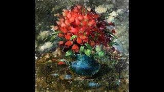 Голландский натюрморт с Еленой Ильичевой - Маленькие красные тюльпанчики