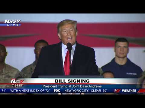 SPACE FORCE ESTABLISHED: President Trump signs Defense Authorization Act at Joint Base Andrews