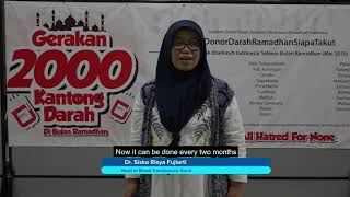Indonesian Ahmadi Muslims donate blood on Khilafat Day