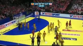 Macedonia vs. Austria 22 : 21 - Handball European Championship 2014 (final minutes)