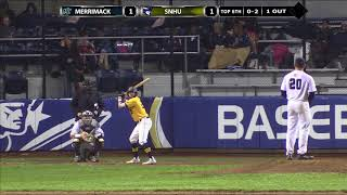 Highlights: Clutch Pitching Leads Baseball to 2-1 Win Over Merrimack