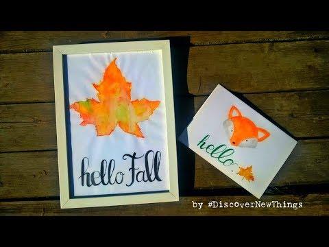 Fox Watercolor Card | Autumn | DIY | Hello Fall