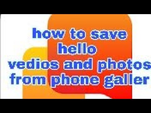 helo app//how to save Helo app vedios and photos from your phone gallery:-)  Helo app