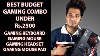 Gaming Peripherals Combo Under Rs.2500   Redgear Manta MT41 Gaming Combo Unboxing & Review [HINDI]