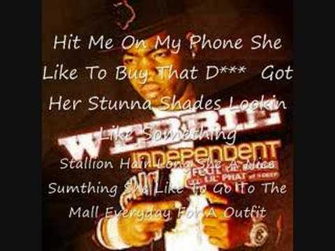 Independent with lyrics on the screen