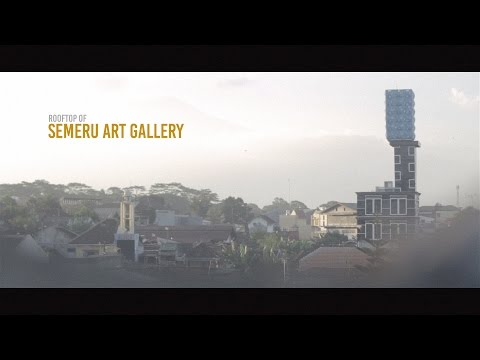 Rooftop of Semeru Art Gallery Malang