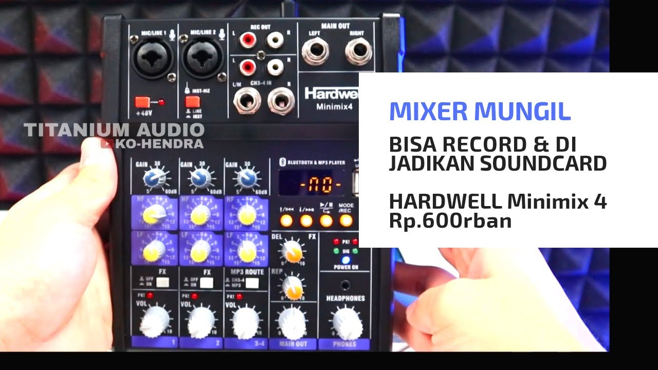 Lagi Cari Mixer Yg Bisa Record & Soundcard ??? Minimix 4 Hardwell