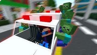 ГОЛОДНЫЕ ЗОМБИ! ПОЛТЕРГЕЙСТ! ВОЕННЫЙ! ДЕНЬ 16. ЗОМБИ АПОКАЛИПСИС В МАЙНКРАФТ! - (Minecraft - Сериал)