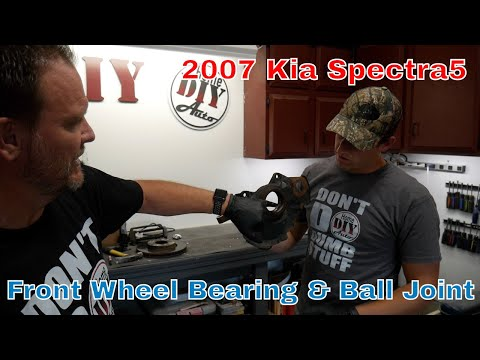 How to fix 2007 Kia Spectra5 Front Wheel Bearing and Lower Ball Joint Replacement – the CORRECT way!