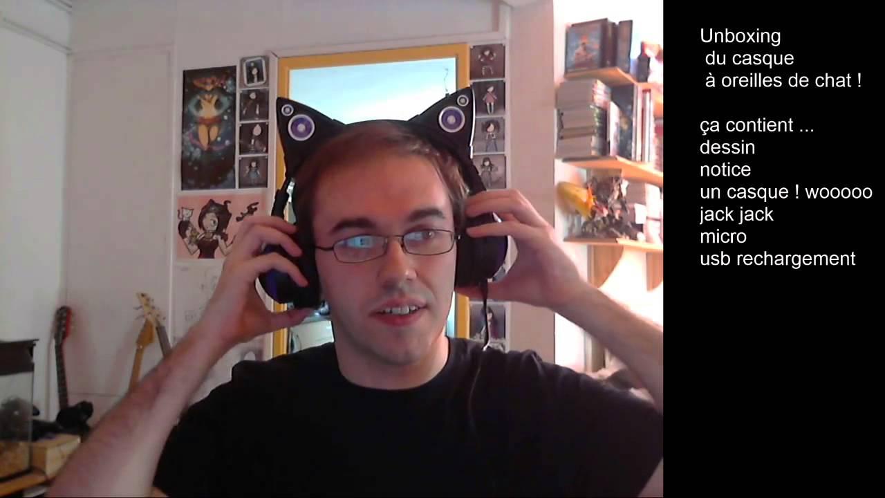 unboxing du casque audio oreilles de chat axent wear coin youtube. Black Bedroom Furniture Sets. Home Design Ideas