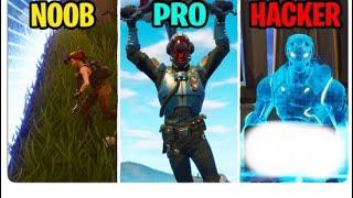 NOOB vs PRO vs HACKER - Fortnite Battle Royal