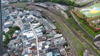 田川市石炭歴史博物館 空から JR田川伊田駅 田川後藤寺駅 Tagawa JR Tagawaita station/Tagawagotoji  Tagawa Museum  of coal