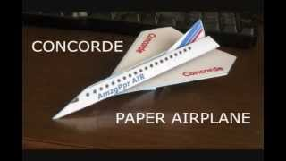 How to fold a Concord Paper Airplane