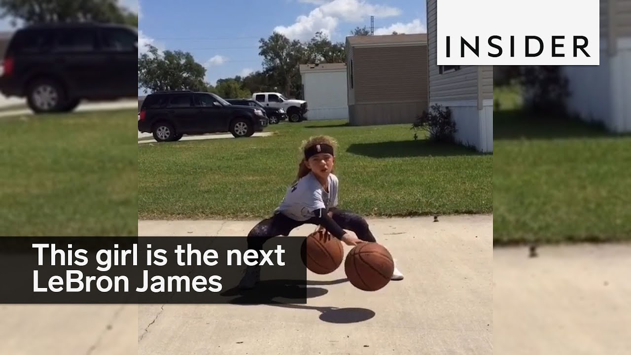 ec0f5e2a566 ... this 6 year old girl is the next lebron james youtube