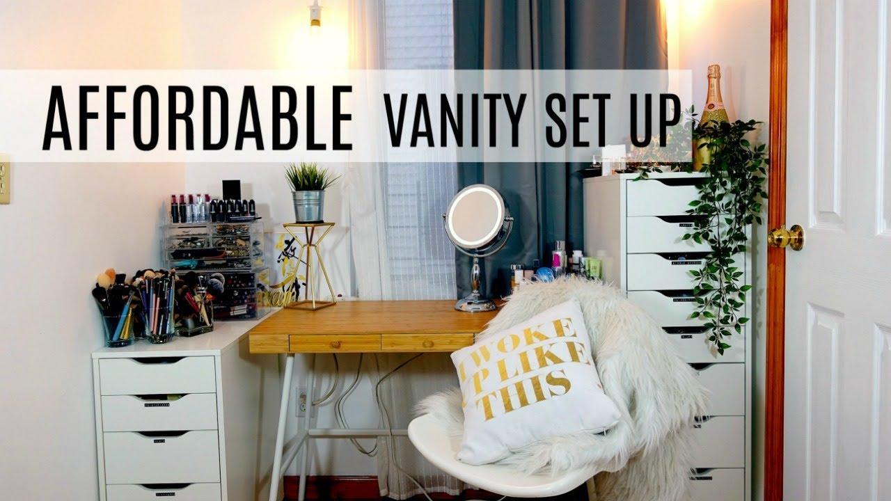 How To Affordable Ikea Vanity Set Up Makeup Organization Hacks Boho Chic Vanity Tour