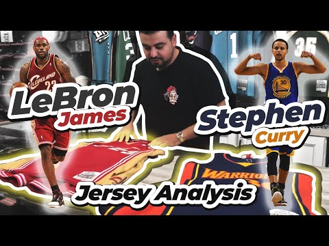 Lebron James and Stephen Curry Mitchell and Ness Swingman Jersey Analysis