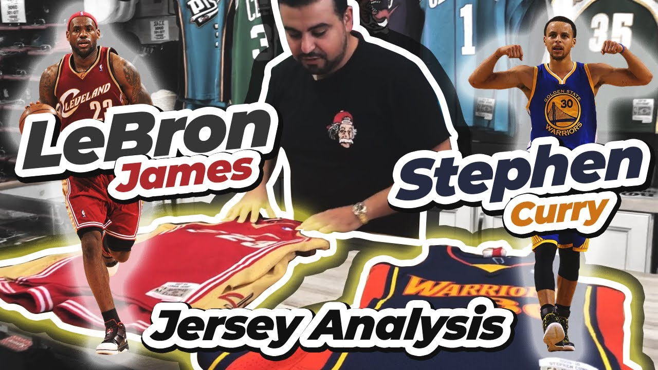 brand new 48e4c 8e33d Lebron James and Stephen Curry Mitchell and Ness Swingman Jersey Analysis