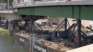 Le pont Mathilde a retrouvé sa travée en avance
