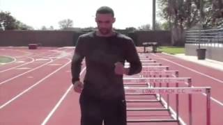 David Warren Hurdle drills Lead leg, Trail leg, Alternate leg, 42' hurdle hops, DavidWarrenWorkouts