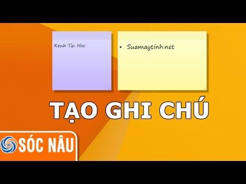 Cách viết ghi chú trên Desktop bằng Sticky Notes