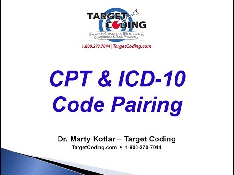 Target Coding   CPT & ICD 10 Code Pairing