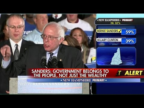Bernie Sanders Delivers Victory Speech After New Hampshire Democratic Primary Win