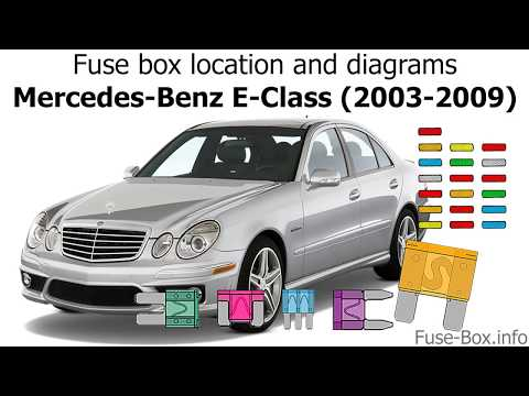 fuse box location and diagrams: mercedes-benz e-class (2003-2009) - youtube