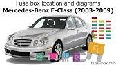 Fuse Box Location And Diagrams Mercedes Benz E Class 1996 2002 Youtube