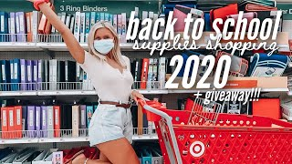 BACK TO SCHOOL SUPPLIES SHOPPING 2020 | HAUL + GIVEAWAY