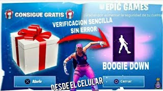 *FREE*HOW TO get the new FREE BOOGIE DOWN BAILE IN FORTNITE(EASY VERIFICATION WITHOUT ERROR)