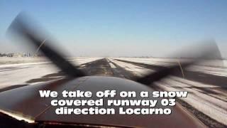 Turboprop Cessna P210: climb performances in snow