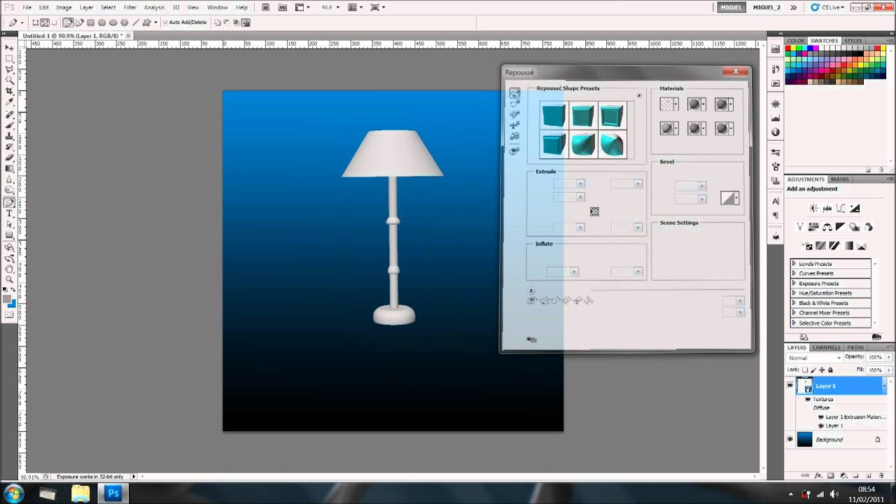 Create A 3d Object In Photoshop Youtube
