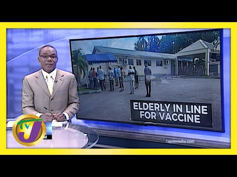 Vaccination Starts for People 75 yrs & Over in Jamaica | TVJ News
