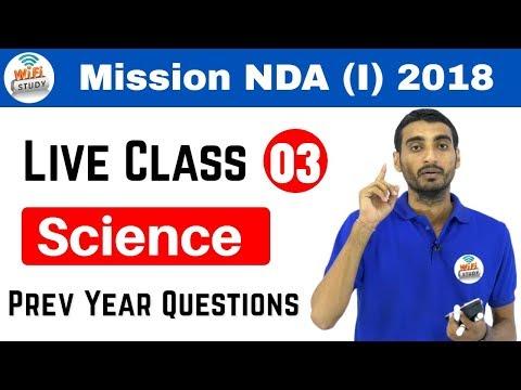 10:00 PM NDA(I) 2018 I Defence Special by Vivek Sir | Science | अब वर्दी दूर नहीं I Day#03